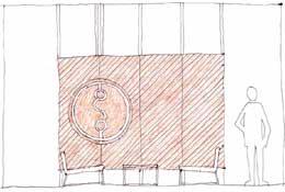 Sketch of Studio Fuse logo wall