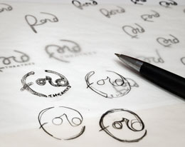 Ford logo sketches